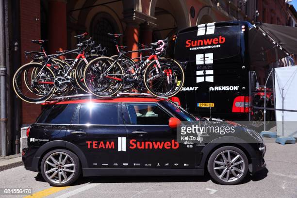 100th Tour of Italy 2017 / Stage 12 Mini Car / Giant Bike / Tom DUMOULIN Pink Leader Jersey / Team Sunweb / Pink Bar Tape / Forli Reggio Emilia /...
