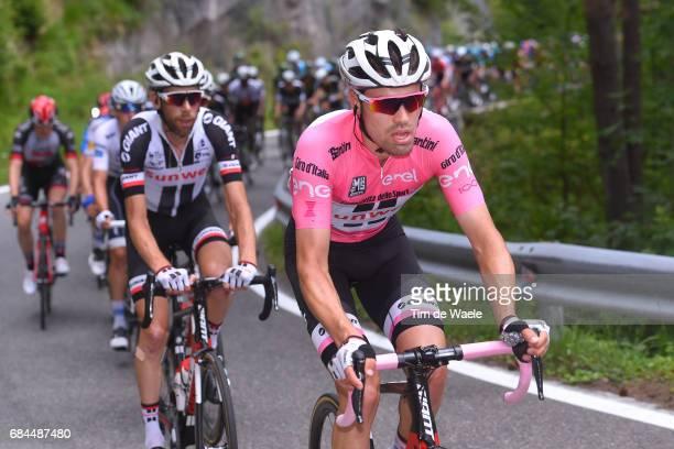 100th Tour of Italy 2017 / Stage 12 Tom DUMOULIN Pink Leader Jersey/ Laurens TEN DAM / Forli Reggio Emilia / Giro /