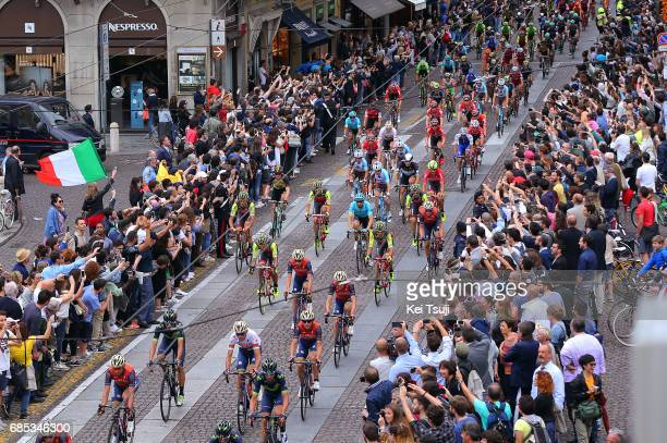 100th Tour of Italy 2017 / Stage 13 Peloton / Parma City / Public / Fans / Landscape / Reggio Emilia - Tortona / Giro /