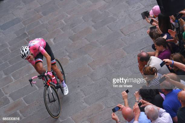 100th Tour of Italy 2017 / Stage 13 Tom DUMOULIN Pink Leader Jersey / Public Fans / Reggio Emilia Tortona / Giro /