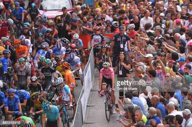 100th Tour of Italy 2017 / Stage 13 Tom DUMOULIN Pink Leader Jersey / Reggio Emilia Tortona / Giro /
