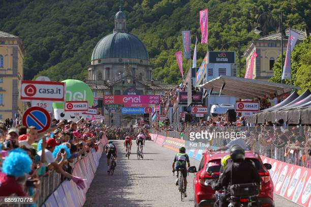100th Tour of Italy 2017 / Stage 14 Arrival / Ilnur ZAKARIN / Tom DUMOULIN Pink Leader Jersey/ Mikel LANDA MEANA / Nairo QUINTANA / Castellania...