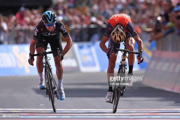 100th Tour of Italy 2017 / Stage 16 Arrival Sprint / Vincenzo NIBALI / Mikel LANDA MEANA / Rovetta Bormio / Giro /