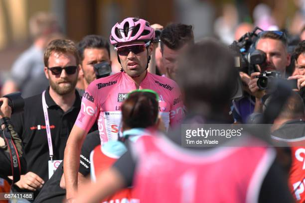 100th Tour of Italy 2017 / Stage 16 Arrival / Tom DUMOULIN Pink Leader Jersey / Disappointment / Rovetta Bormio / Giro /
