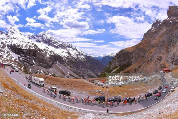 100th Tour of Italy 2017 / Stage 16 Landscape / Tom DUMOULIN Pink Leader Jersey/ Nairo QUINTANA / Bob JUNGELS White Best Young Rider Jersey / Peloton...