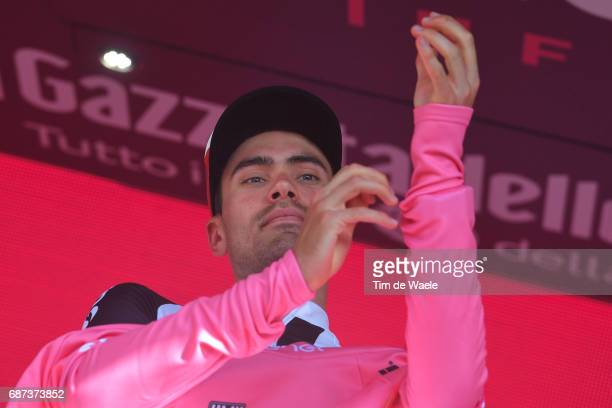 100th Tour of Italy 2017 / Stage 16 Podium / Tom DUMOULIN Pink Leader Jersey / Rovetta Bormio / Giro /