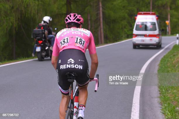 100th Tour of Italy 2017 / Stage 16 Tom DUMOULIN Pink Leader Jersey/ Rovetta Bormio / Dropped due to stomach problem / Renson / Giro /