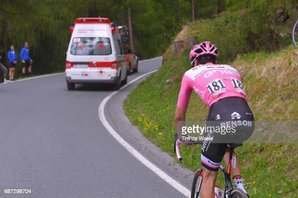 100th Tour of Italy 2017 / Stage 16 Tom DUMOULIN Pink Leader Jersey/ Rovetta Bormio /Dropped due to stomach problem / Renson / Giro /