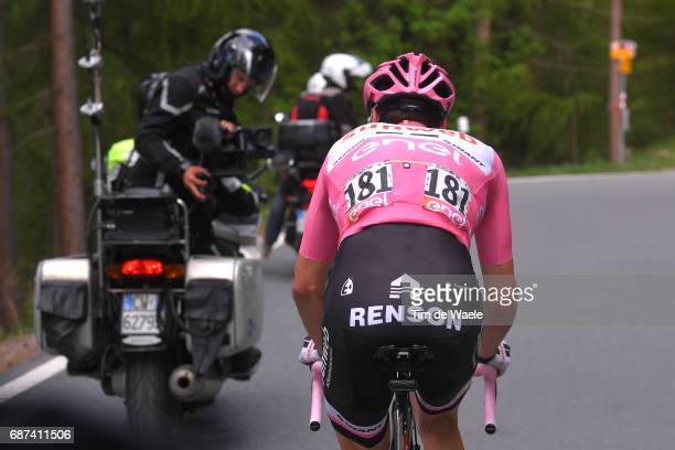 100th Tour of Italy 2017 / Stage 16 Tom DUMOULIN Pink Leader Jersey / Dropped due to stomach problems / Renson / Rovetta Bormio / Giro /