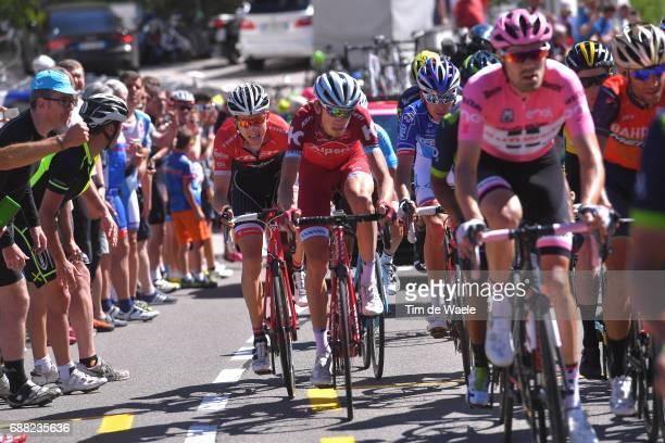 100th Tour of Italy 2017 / Stage 18 Tom DUMOULIN Pink Leader Jersey/ Vincenzo NIBALI / Ilnur ZAKARIN / Bauke MOLLEMA / Moena Ortisei/St Ulrich 1219m...