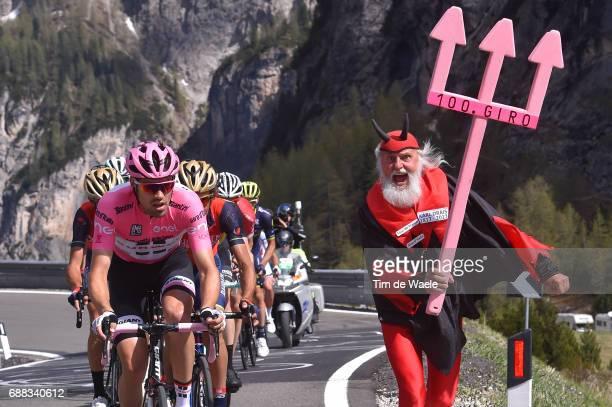 100th Tour of Italy 2017 / Stage 18 Tom DUMOULIN Pink Leader Jersey / Franco PELLIZOTTI / Didi SENFT Devil / Moena Ortisei/St Ulrich 1219m / Giro /