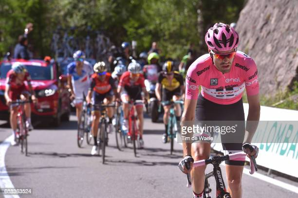 100th Tour of Italy 2017 / Stage 18 Tom DUMOULIN Pink Leader Jersey / Moena Ortisei/St Ulrich 1219m / Giro /