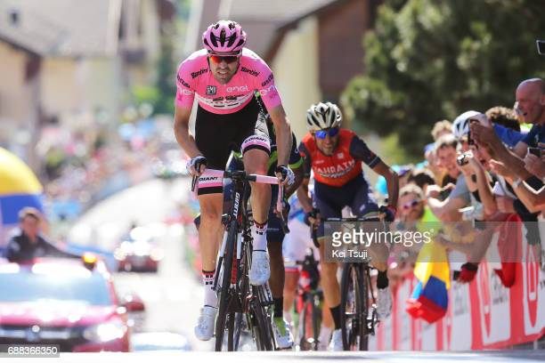 100th Tour of Italy 2017 / Stage 18 Tom DUMOULIN Pink Leader Jersey / Nairo QUINTANA / Vincenzo NIBALI / Moena Ortisei/St Ulrich 1219m / Giro /