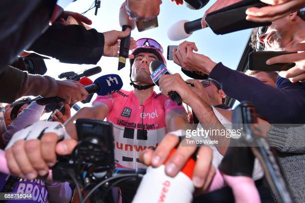 100th Tour of Italy 2017 / Stage 19 Arrival / Tom DUMOULIN Pink Leader Jersey/ Media/ San Candido / Innichen Piancavallo 1290m / Giro /