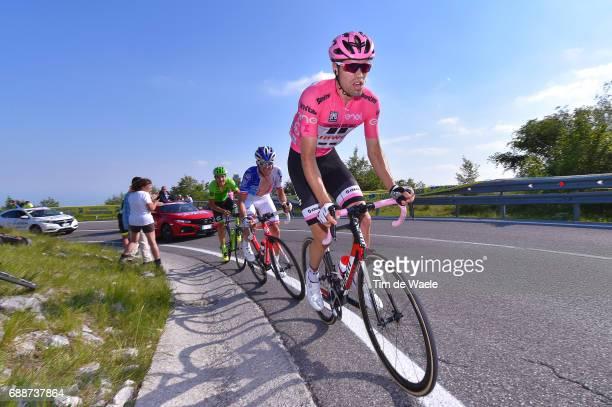 100th Tour of Italy 2017 / Stage 19 Tom DUMOULIN Pink Leader Jersey / Sebastien REICHENBACH / Davide FORMOLO / San Candido / Innichen Piancavallo...