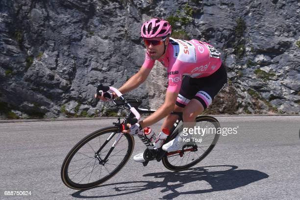 100th Tour of Italy 2017 / Stage 19 Tom DUMOULIN Pink Leader Jersey / San Candido / Innichen Piancavallo 1290m / Giro /