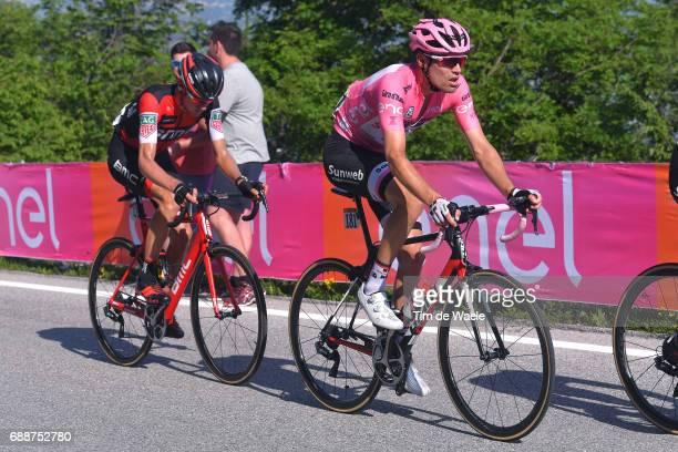 100th Tour of Italy 2017 / Stage 19 Tom DUMOULIN Pink Leader Jersey / Tejay VAN GARDEREN / San Candido / Innichen Piancavallo 1290m / Giro /