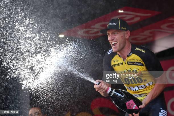 100th Tour of Italy 2017 / Stage 21 Podium / Jos VAN EMDEN Celebration / Champagne/ MonzaAutrodromo Nazionale MilanoDuomo / Individual Time Trial /...