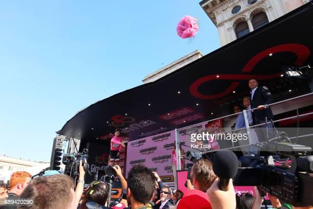 100th Tour of Italy 2017 / Stage 21 Podium / Tom DUMOULIN Pink Leader Jersey/ Celebration / MonzaAutrodromo Nazionale MilanoDuomo / Individual Time...