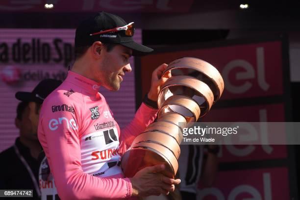 100th Tour of Italy 2017 / Stage 21 Podium / Tom DUMOULIN Pink Leader Jersey/ Celebration / Trophy/ MonzaAutrodromo Nazionale MilanoDuomo /...