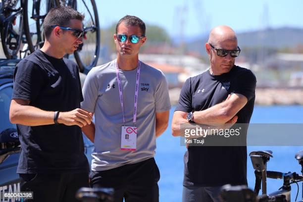 100th Tour of Italy 2017 / Stage 3 Dario CIONI Sportsdirector / Dave BRAILSFORD Team Manager Team SKY / Tortoli Cagliari / Giro /