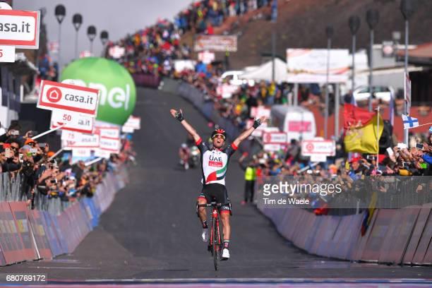 100th Tour of Italy 2017 / Stage 4 Arrival / Jan POLANC Celebration / Cefalu EtnaRifSapienza 1982m / Giro /