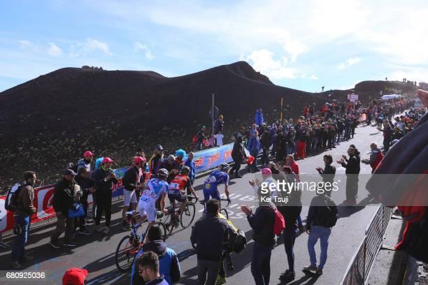 100th Tour of Italy 2017 / Stage 4 Laurens DE PLUS / Giovanni VISCONTI / Tobias LUDVIGSSON / ETNA Mountains / Volcano / Public / Fans / Landscape /...