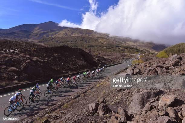 100th Tour of Italy 2017 / Stage 4 Peloton / ETNA Volcano / Mountains / Lava / Landscape / Cefalu EtnaRifSapienza 1982m / Giro /