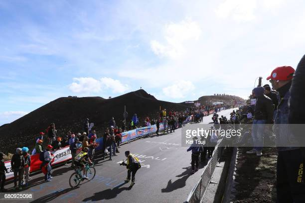 100th Tour of Italy 2017 / Stage 4 Stef CLEMENT / ETNA Mountains / Volcano / Public / Fans / Landscape / Cefalu EtnaRifSapienza 1982m / Giro /