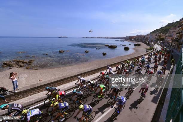 100th Tour of Italy 2017 / Stage 5 Landscape / Peloton / Sea / Giardini Naxos City / Perada Messina / Giro /