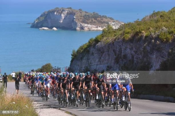 100th Tour of Italy 2017 / Stage 8 Peloton / Adriatic Sea / Landscape / Molfetta Peschici 112m / Giro /