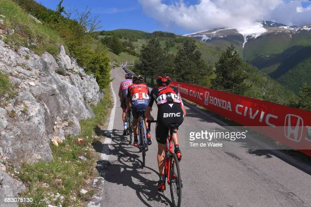 100th Tour of Italy 2017 / Stage 9 Tejay VAN GARDEREN / Franco PELLIZOTTI / Bob JUNGELS Pink Leader Jersey / Blockhaus Mountains / Landscape /...
