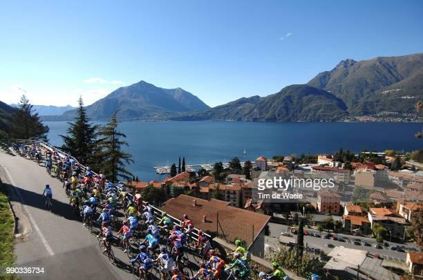 Giro Di Lombardieillustration Illustratie, Peleton Peloton, Como Lake Lac Meer, Landscape Paysage Landschap /Varese - Como , Ronde Tour Van...