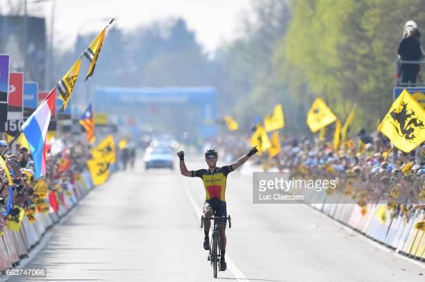 101st Tour of Flanders 2017 / Men Arrival / Philippe GILBERT / Celebration / Antwerpen - Oudenaarde / Men / Ronde Van Vlaanderen / Tour of Flanders /...
