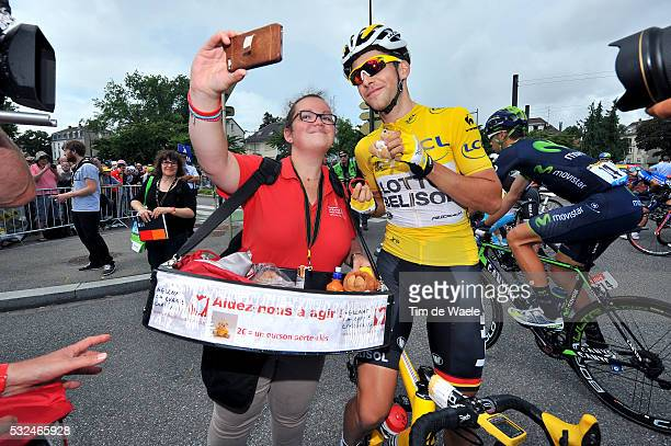 101th Tour de France / Stage 10 GALLOPIN Tony Yellow Jersey Fans Supporters Selfie Phone / Mulhouse La Planche Des Belles Filles 1035m / Ronde van...