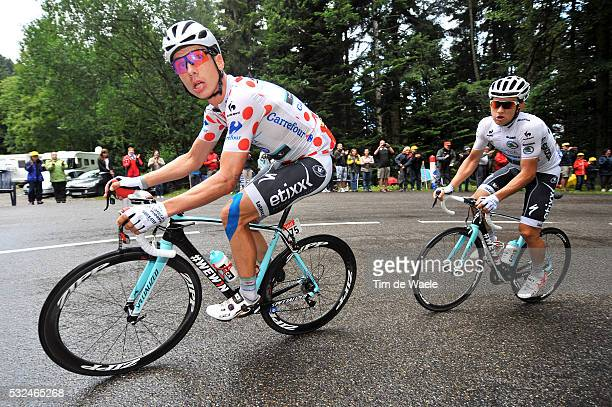 101th Tour de France / Stage 10 MARTIN Tony Mountain Jersey / KWIATKOWSKI Michal White Young Jersey / Mulhouse - La Planche Des Belles Filles 1035m /...