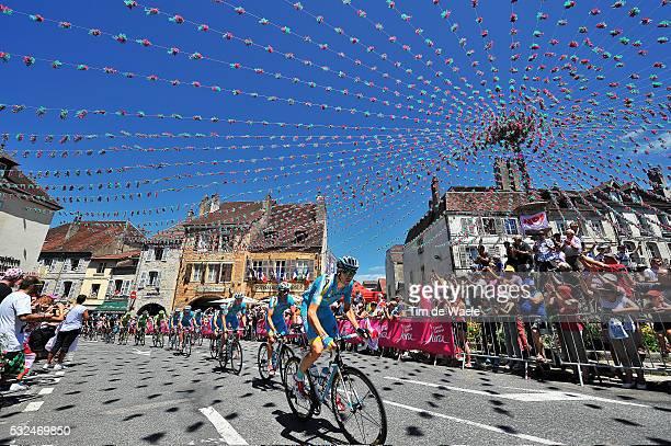 101th Tour de France / Stage 11 Illustration Illustratie / Peleton Peloton / ARBOIS City Ville Stad / Team Astana / Landscape Paysage Landschap /...
