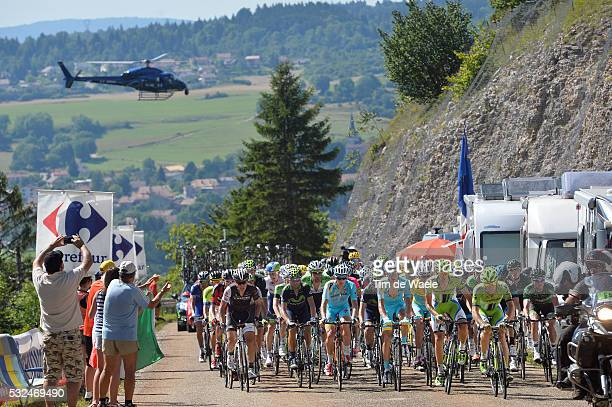 101th Tour de France / Stage 11 Illustration Illustratie / Peleton Peloton / helicopter TV / Landscape Paysage Landschap / Besancon - Oyonnax / Ronde...