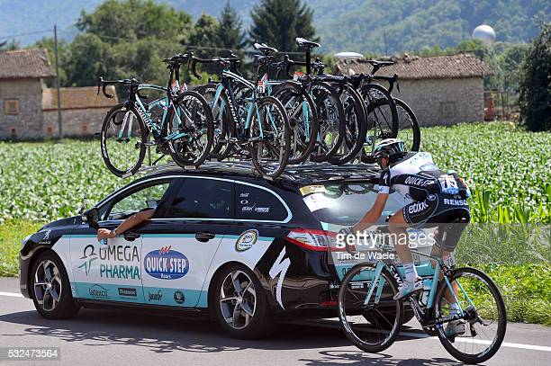 101th Tour de France / Stage 13 Illustration Illustratie / TRENTIN Matteo / Ravitaillement Bevoorrading team OPQS Peugeot Car Voiture Auto /...