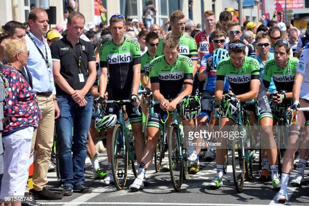 101Th Tour De France Stage 13 Start Christian Prudhomme Tdf Director Aso Richard Plugge Team Manager Belkin / Mollema Bauke / Vanmarcke Sep / Wynants...