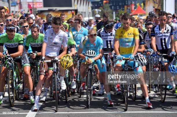 101Th Tour De France Stage 13 Start Wynants Maarten / Tankink Bram / Bardet Romain White Young Jersey Westra Lieuwe / Nibali Vincenzo Yellow Leader...