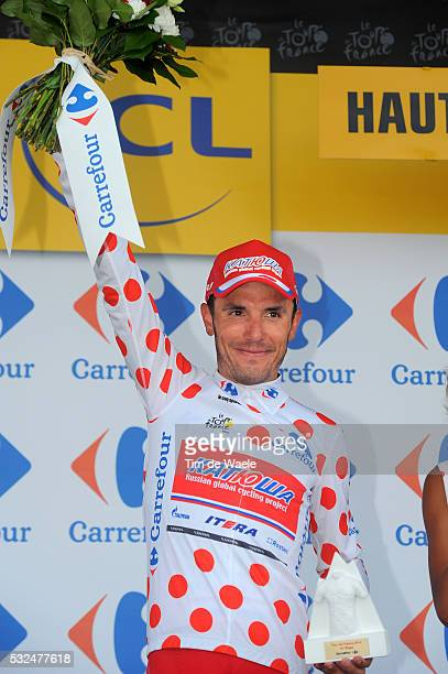 101th Tour de France / Stage 14 Podium / RODRIGUEZ Joaquim Mountain Jersey / Celebration Joie Vreugde / Grenoble - Risoul 1855m / Ronde van Frankrijk...