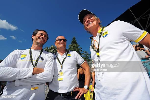 101th Tour de France / Stage 16 Arrival / Stefano FELTRIN CEO Team Tinkoff Saxo / Bjarne RIIS Sportive Manager / Oleg TINKOFF Team Owner Team Tinkoff...