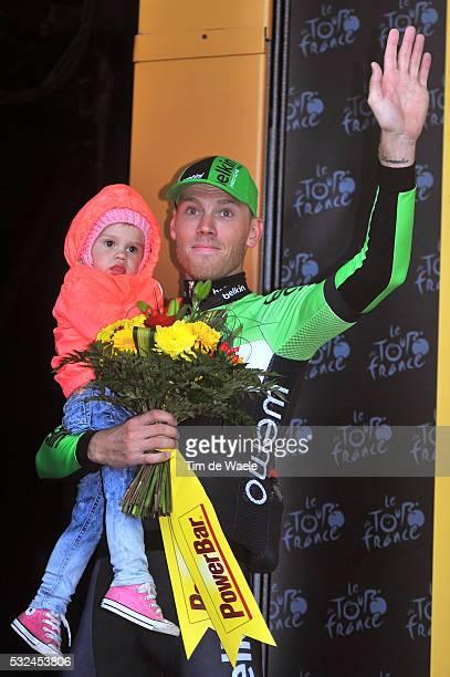 101th Tour de France / Stage 5 Podium / BOOM Lars / Kee Daughter Dochter Fille / Celebration Joie Vreugde / Ypres Arenberg Porte du Hainaut / Ronde...