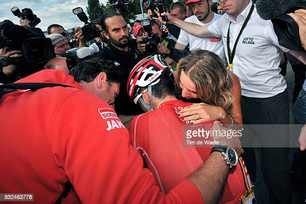 101th Tour de France / Stage 9 Arrival / GALLOPIN Tony / Marion ROUSSE Girlfriend Wife Femme Vrouw / Celebration Joie Vreugde / Gerardmer Mulhouse /...