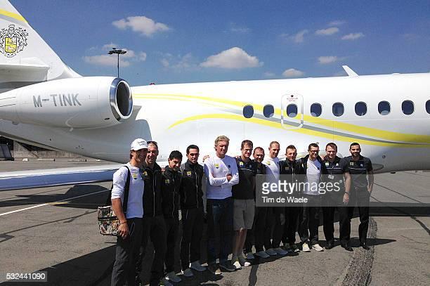 101th Tour de France / Team Tinkoff Training BENNATI Daniele / TOSATTO Matteo / HERNANDEZ Jesus / Alberto CONTADOR / Oleg TINKOFF Team Owner Tinkoff...