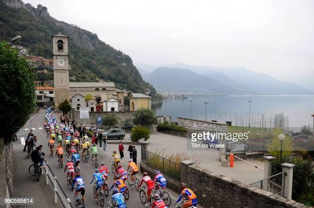 Giro Lombardia Illustration Illustratie, Peleton Peloton, Lago De Como, Lac Meer Lake, Landscape Paysage Landschap, Church Kerk Eglise, Varese - Como...