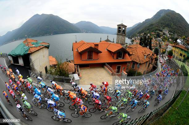 Giro Lombardia Illustration Illustratie, Peleton Peloton, Lago De Como, Landscape Paysage Landschap, Lac Meer Lake, Varese - Como , Tim De Waele