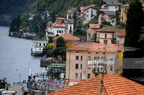 Giro Lombardia Illustration Illustratie, Peleton Peloton, Dizzasco Village Town Dorp, Lago De Como, Lake Lac Meer, Landscape Paysage Landschap...