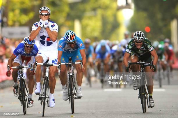102Nd Paris-Toursarrival, Philippe Gilbert Celebration Joie Vreugde, Jan Kuyckx , Sebastien Turgot , Nicolas Vogondy , Saint-Arnoult-En-Yvelines -...